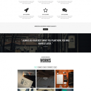 Simple Single Page PSD Website Template