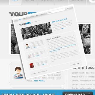Simple Web Design Layout PSD