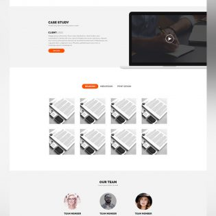 Simple and Clean Website Template PSD for Creative Digital Agencies