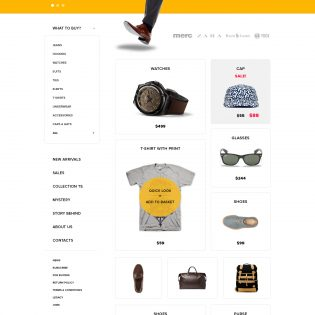 Simple eCommerce Website Template PSD