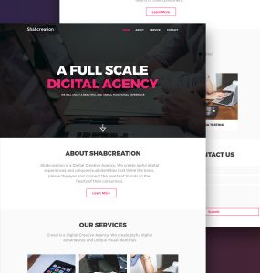Simplistic Creative Agency Website Template Free PSD