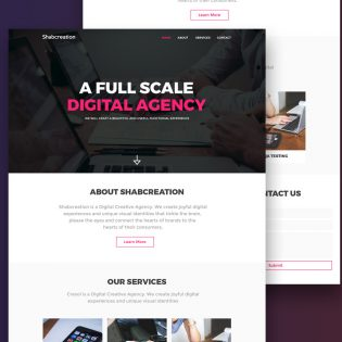 Simplistic Creative Agency Website Template Free PSD
