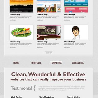 Single Page Website PSD