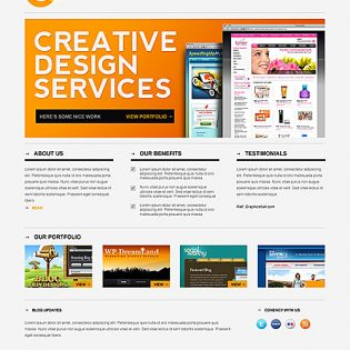 Sleek Minimal Website PSD template