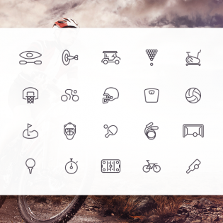 Sleek Sports Icons Set PSD