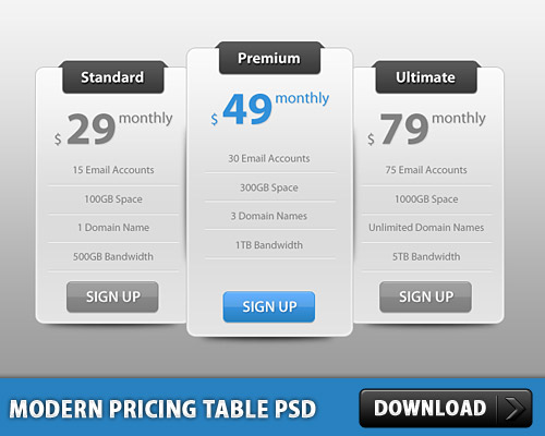 Slick Modern Pricing Table PSD Web Resources UI Table Slick Sale Resources Psd Templates PSD Sources psd resources PSD images psd free download psd free PSD file psd download PSD Pricing Table Pricing Price Tag Price Modern Lable Hosting Price GUI Free PSD download psd download free psd Clean