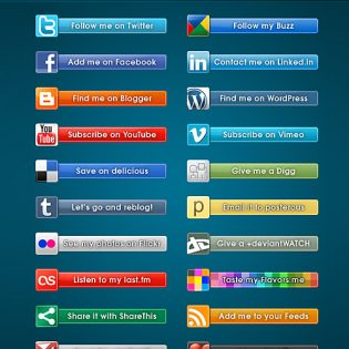 Social Badges Free PSD