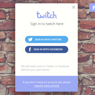 Social Media Login Widget PSD Freebie
