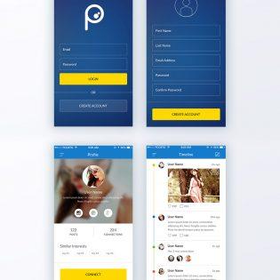 Social Network App Concept Free PSD
