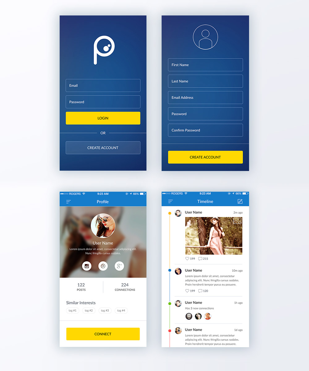mobile app privacy policy template - download free application psd psd at
