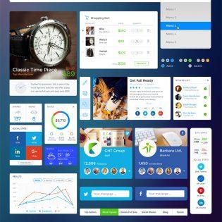 Social eCommerce Widgets Free UI Kit PSD