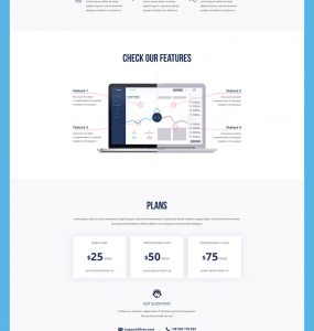 Software Company Website Landing Page PSD Freebie