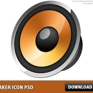 Free Speaker icon PSD