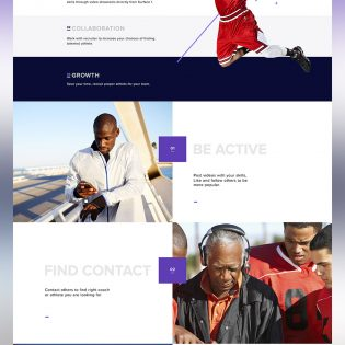 Sports Website Template Free PSD