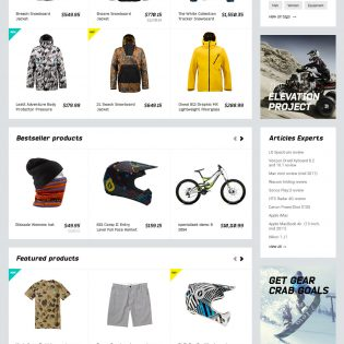 Sportswear Shopping Website PSD Template