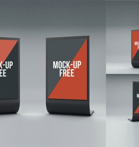 Standee Display Mockup Free PSD