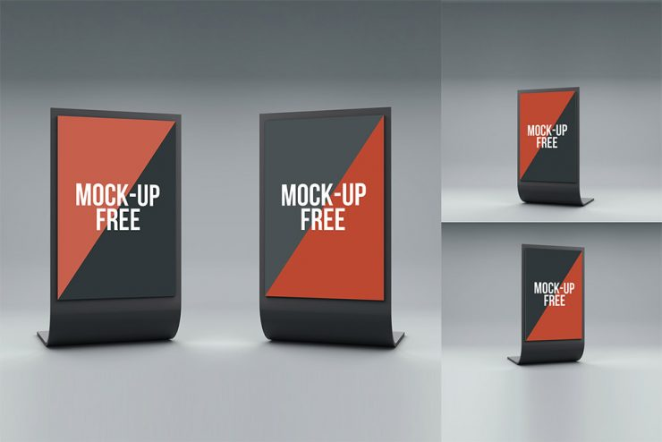 Exhibition Stand Design Mockup Free Download : Standee display mockup free psd download