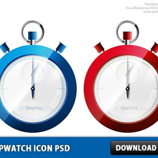 Stopwatch icon PSD