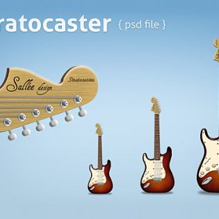 Free Stratocaster PSD File