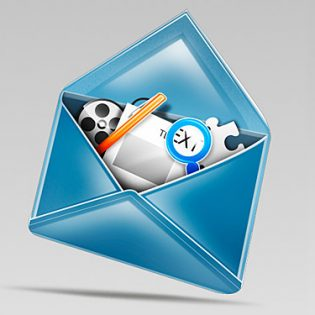 Stylish Mail Icon PSD