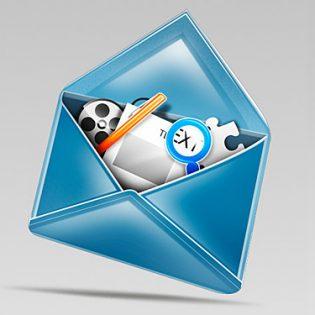 Stylish Mail Icon PSD