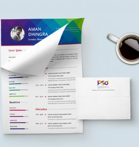 Stylish Resume & Cover Letter Template Free PSD Graphics