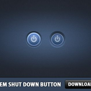 System Shut Down Button PSD
