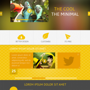 THEYALOW Responsive Web Design Template PSD