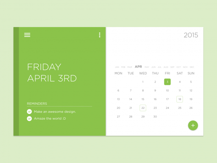 Task Calendar Widget Free PSD widget week Web Resources Web Elements Web Design Elements Web User Interface unique ui set ui kit UI elements UI todo list to-do list tasklist task Stylish Simple schedule Resources reminder Quality PSD pack original new Month Modern material List Interface GUI Set GUI kit GUI Green Graphical User Interface Fresh Freebie Free PSD Free Flat Elements Download detailed Design Resources Design Elements Design day Creative Clean Calendar