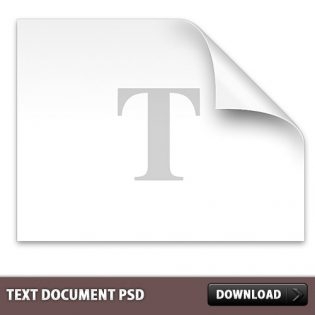 Text Document file PSD