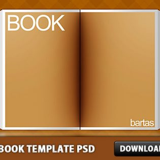 The Book Template Free PSD
