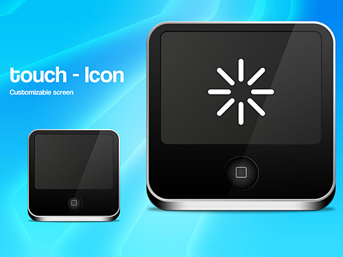 Touch Screen Icon PSD Touch Screen, Sound, Psd Templates, PSD Sources, psd resources, PSD images, psd free download, psd free, PSD file, psd download, PSD, Objects, Music, Mp3 Player, Layered PSDs, iPod Touch, iPod, Icon PSD, Icon, Glossy, Free PSD, Free Icons, Free Icon, download psd, download free psd, Apple,