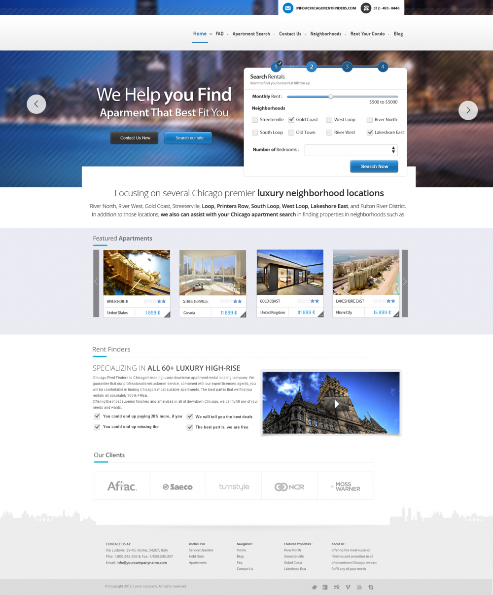 Travel booking website design template psd download for Website layout design software free download
