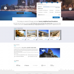 Travel Booking Website PSD Template