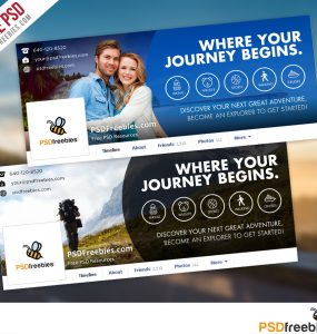 Travel Facebook Timeline Covers Free PSD Templates