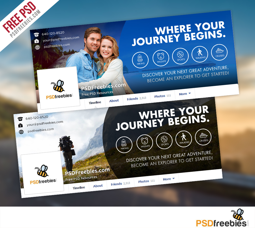 Travel facebook timeline covers free psd templates download travel facebook timeline covers free psd templates cheaphphosting Images