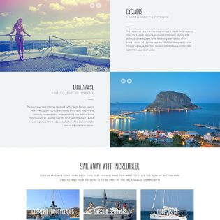 Travel Website Landing Page PSD Template