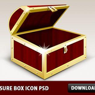 Treasure box Icon PSD