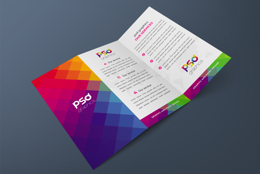 Download free tri fold brochure mockup free psd graphics for 3 fold brochure template psd free download