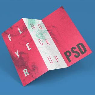 Trifold Brochure and Flyer Mockup Free PSD