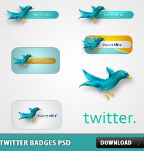 Twitter Badges Free PSD Web Resources, Twitter Icon, Twitter, Social Network, Social Media icon, Social Icon, Social, Resources, Psd Templates, PSD Sources, psd resources, PSD images, psd free download, psd free, PSD file, psd download, PSD, Layered PSDs, Icon PSD, Icon, Free PSD, Free Icons, Free Icon, Follow, download psd, download free psd, Bird, Badges,