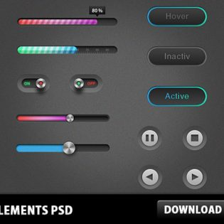 UI Elements Free PSD