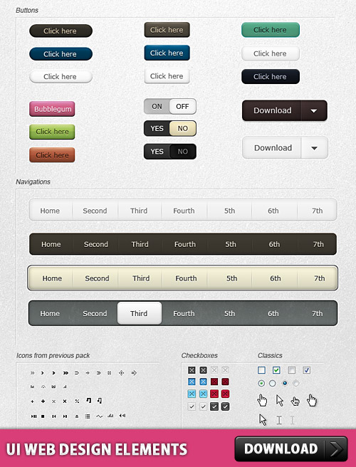 UI Web Design Elements Free PSD