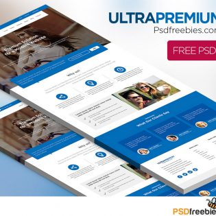 Ultra Premium Corporate Website Free PSD