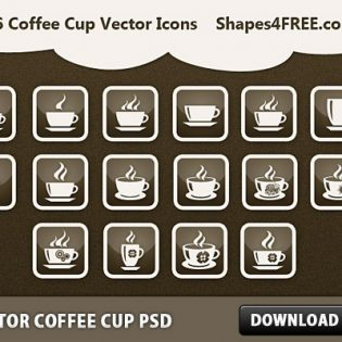 Vector Coffee Cup PSD