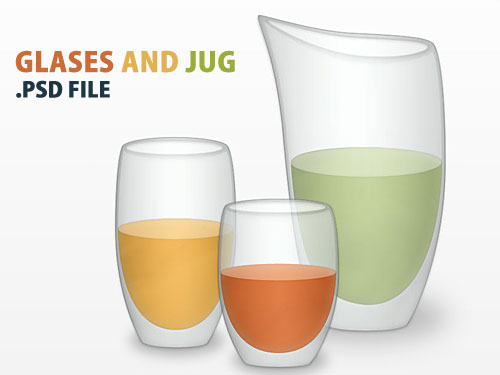 Vector Glasses And Jug PSD File Water, Vector, Psd Templates, PSD Sources, psd resources, PSD images, psd free download, psd free, PSD file, psd download, Objects, Layered PSDs, Jug, Icons, Glossy, Glassy, Glass, Free PSD, Drinking Glass, download psd, download free psd,