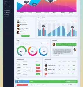 Vibrant eCommerce Project Activity Dashboard GUI PSD