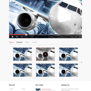 Video Streaming Website Template PSD
