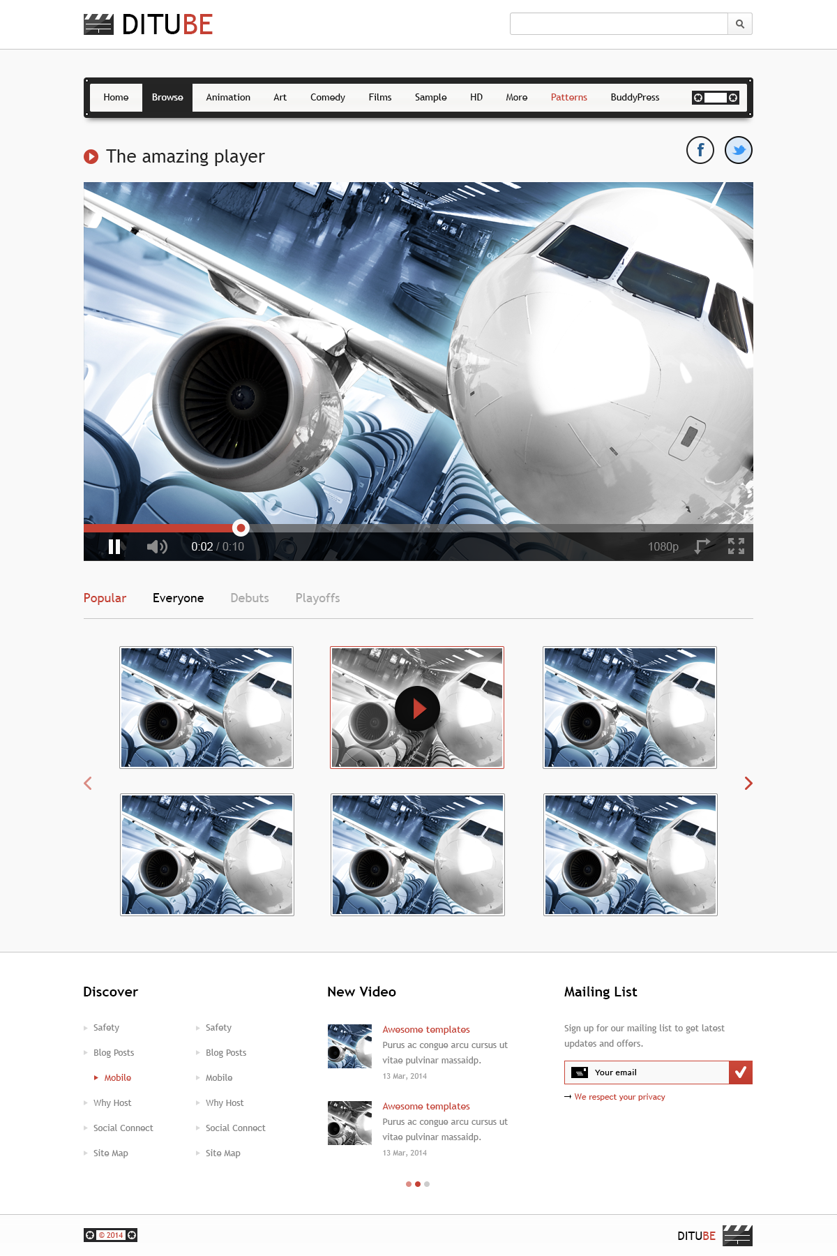 Video Streaming Website Template PSD Download - Download PSD