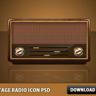 Vintage Radio Icon PSD